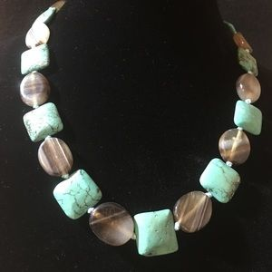 Necklace Turquoise and Browns
